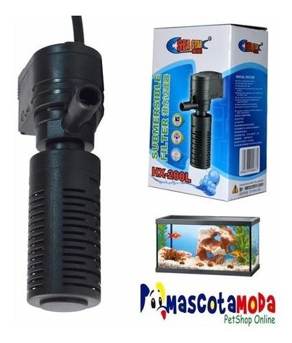 filtro 300lph completo para peceras y acuarios medianos