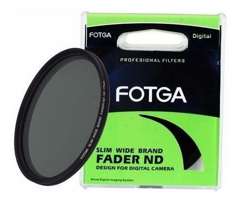 filtro ø 52mm slim fader nd variável nd2 até nd400 fotga