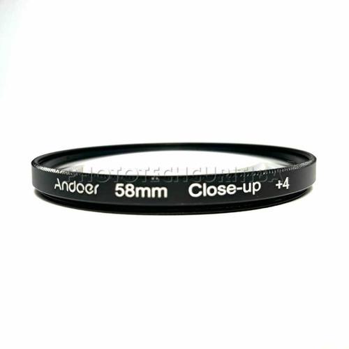 filtro 58mm close up macro  andoer kit com  +1  +2  +4  +10