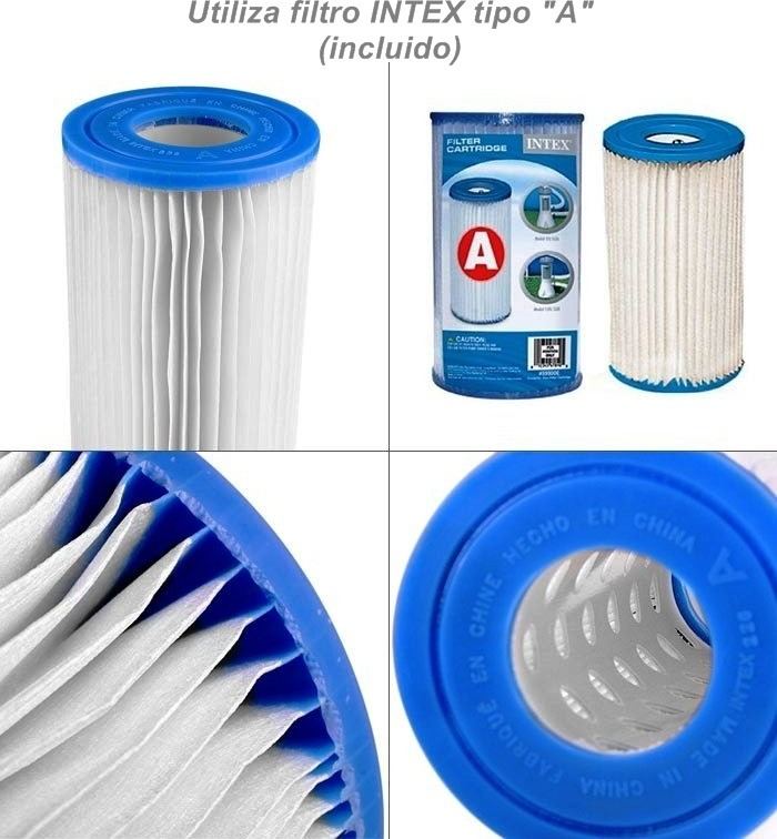 Filtro a para bomba filtrante para piscinas intex y for Filtro piscina intex
