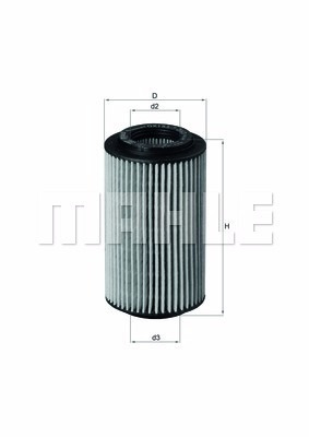 filtro aceite cartucho mercedes mahle ox153/7d
