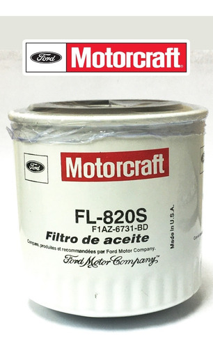 filtro aceite fl-820s fusion triton f150 f250 f350.tienda