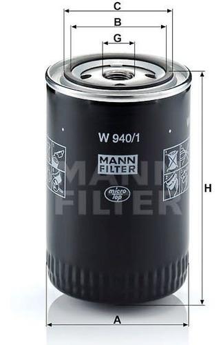 filtro aceite mann ford f100 max econo (desde 01/1993)