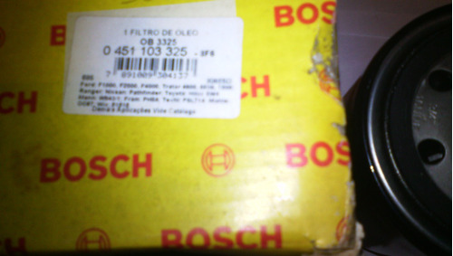 filtro aceite toyota hilux /ford ranger ( marca  bosch.)
