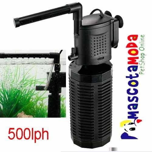 filtro acuarios hasta 100 litros completo con caída lluvia