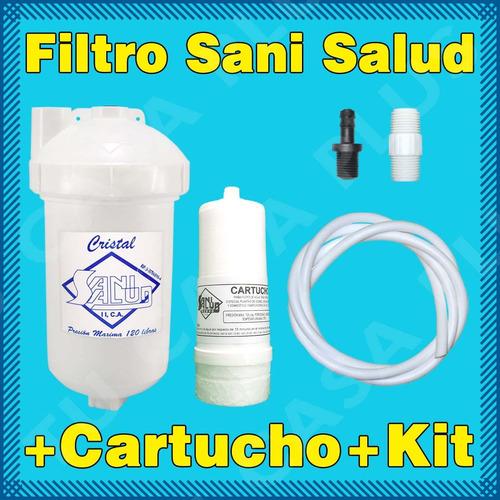 filtro agua crystal+ cartucho + kit instalacion ozono nevera
