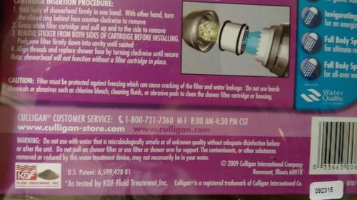 filtro agua duchero culligan 5 modos purificador