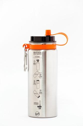filtro agua portatil extremo boteoz   naranja
