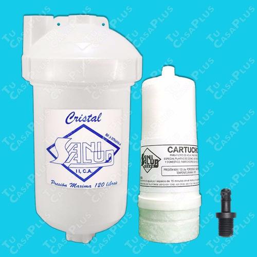 filtro agua sani salud + cartucho - bebederos neveras ozono