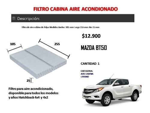 filtro aire acondicionado cabina mazda bt50