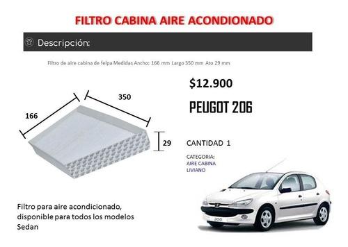 filtro aire acondicionado peugeot 206