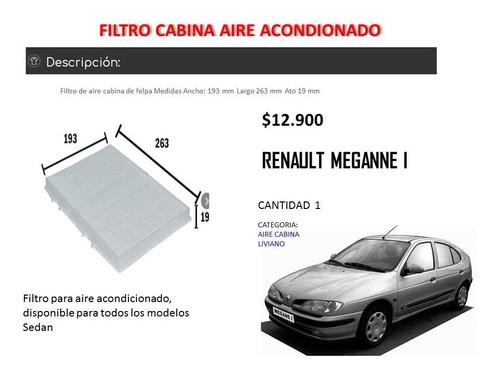 filtro aire acondicionado renault meganne