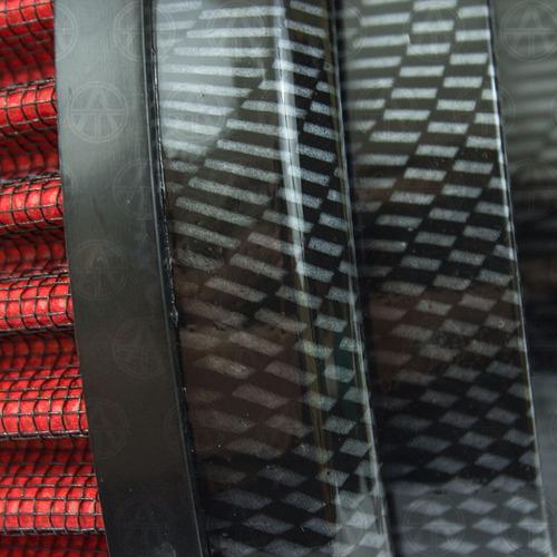 filtro aire alto flujo lavabl universal rojo fibra carbón f3
