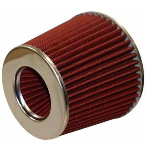 filtro aire biconico grande auto competición depotivo rojo