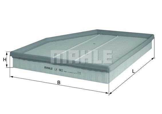 Filtro de aire filtro mahle original LX 1805