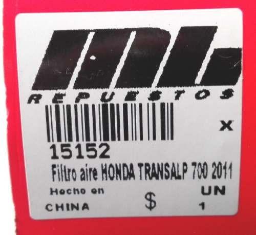 filtro aire honda transalp 700 2011 wega  - um