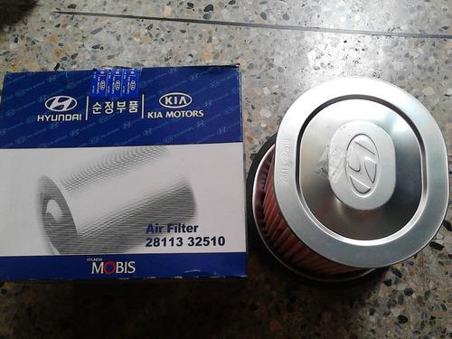 filtro aire motor h1 panel 2.4 hyundai original