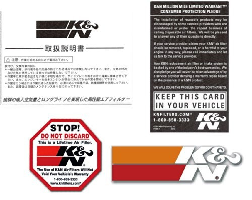 filtro alto flujo k&n cadillac deville 4.1l v8 f/i 1982-1984