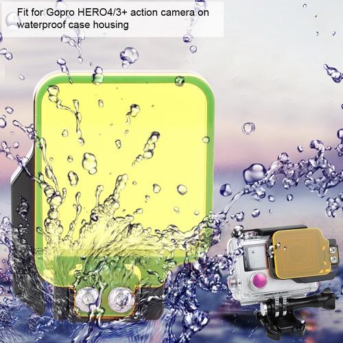 filtro amarillo/rojo para cámara gopro hero4/3+ action sport