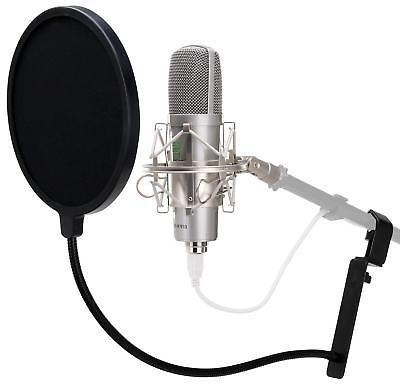 filtro anti pop para microfono soporte antipop flexible