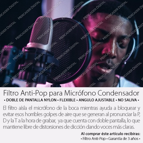filtro anti-pop profesional