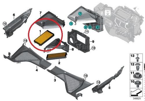 filtro ar condicionado bmw x6 xdrive50i 2009-2015 original