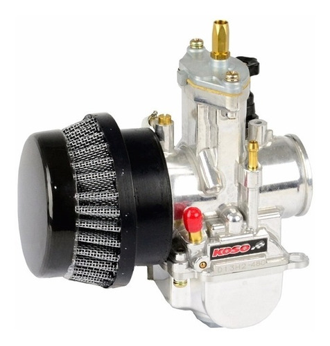 filtro ar esportivo curto 54mm moto cb 400/450 varias cores