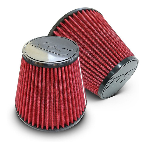 filtro ar esportivo grande 2,5' profissional 750hp tipo k&n