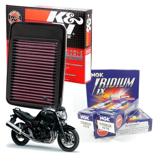 filtro ar k n kn velas de iridium bandit 650 05 / 07 cr8eix