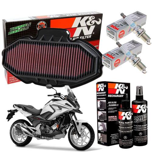 filtro ar k n velas iridium kit limpeza nc750x nc 750x 750 x