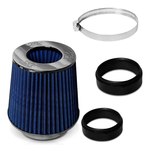 filtro ar k&n cônico duplo fluxo flange ajustável universal