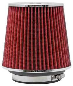 filtro ar kn universal vermelho duplo fluxo rg-1001rd k&n