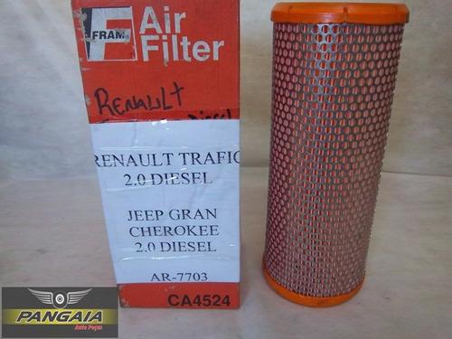 filtro ar renault trafic/jeep cherokee fram ca4524