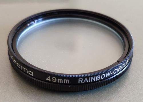 filtro aroma 49mm rainbow circle sin uso en caja