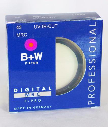 filtro b+w 43mm uv / ir cut mrc