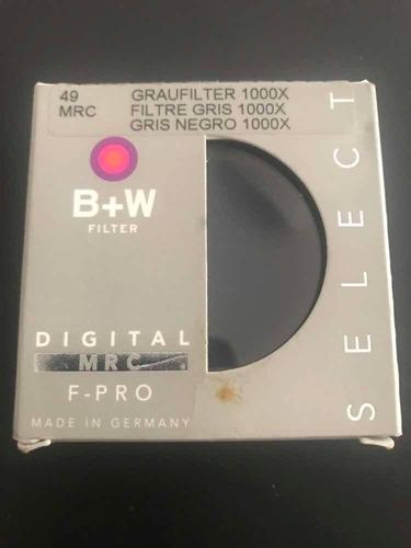 filtro b+w nd3 1000x 49mm digital mrc f-pro