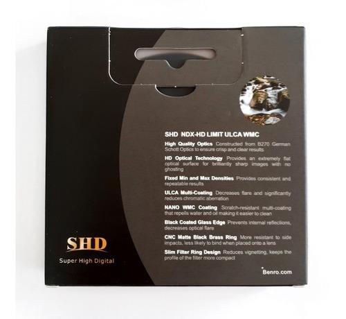 filtro benro nd variável circular shd ndx-hd ulca wmc 72mm