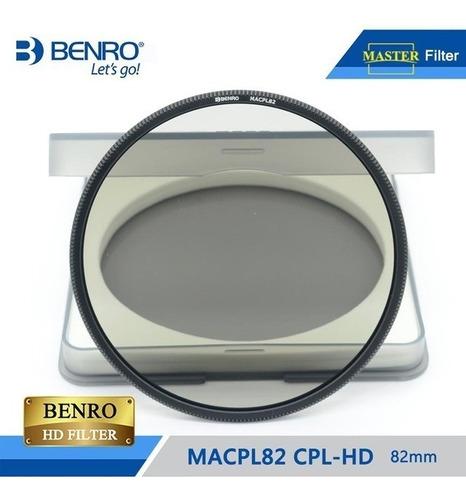 filtro benro polarizador circular macpl82 p/ holder fh100m2