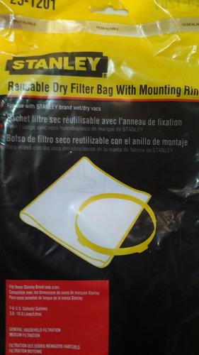filtro bolsa para aspiradora stanley 1 a 5 gal 25-1201