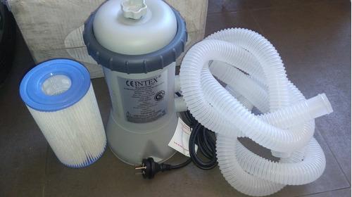 filtro bomba intex   para pileta lona inflable pelopincho