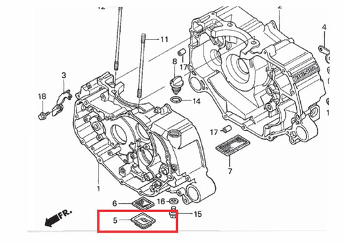 filtro bomba oleo seminovo quadriciclo honda fourtrax 350
