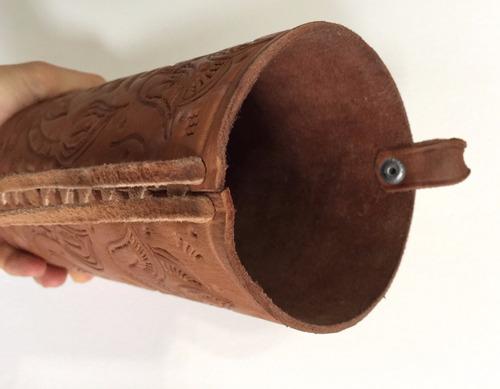 filtro botella agua portatil boteoz funda vaqueta artesanal