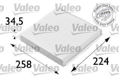 filtro cabina habitaculo partner valeo 698657