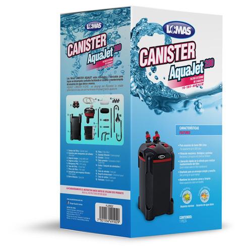 filtro canasta lomas aquajet 200l acuarios canister