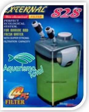 filtro canister jebo 828 1200 litros/h completo frete grátis