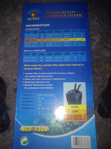 filtro canister sunny scf-800