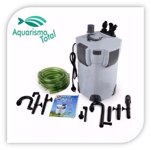 filtro canister sunsun hw-402a 1000 l/h completo com mídias