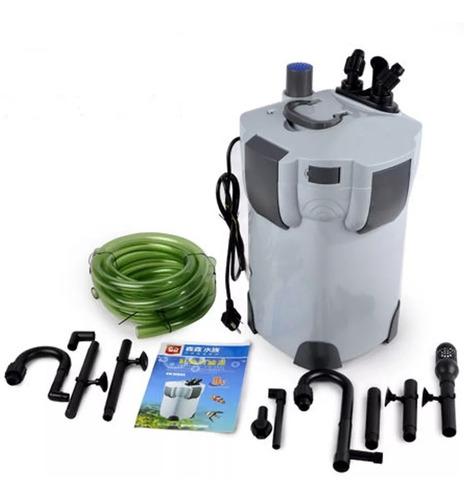filtro canister sunsun hw-402b uv 9w 1000l/h completo mídias