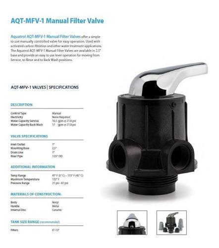 filtro carbon activado 13x54 aquatrol sys-gac-mfv100-1354a