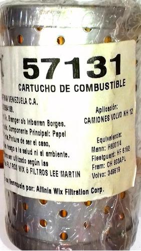 filtro cartucho de combustible wix 57131 para camiones nh12